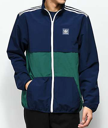 adidas Classic Blue & Green Windbreaker Jacket