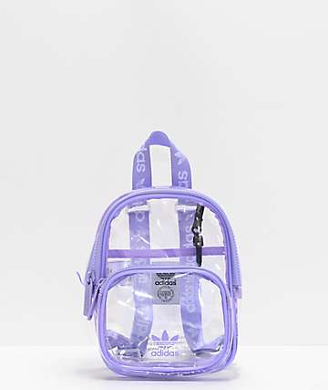 adidas Clear & Purple Mini Backpack