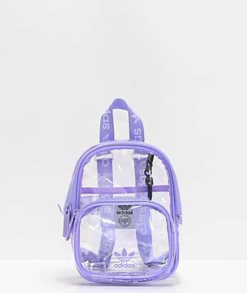 adidas Clear & Purple Mini Backpack