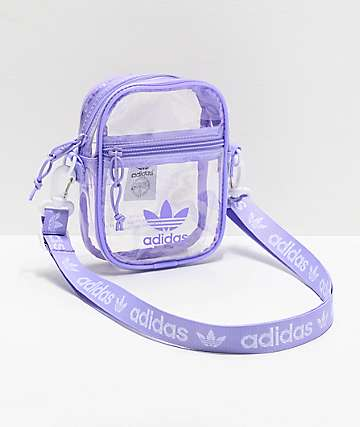 adidas Clear & Purple Shoulder Bag
