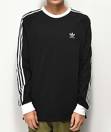 adidas Clima 2.0 Black & White Long Sleeve T-Shirt