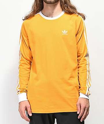 adidas Clima 2.0 Yellow Long Sleeve T-Shirt