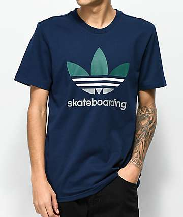 adidas Clima 3.0 Blue, White & Green T-Shirt