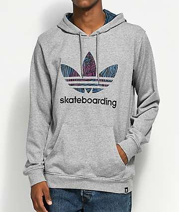 adidas Clima 3.0 Palm Heather Grey Hoodie