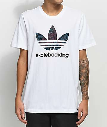 adidas Clima 3.0 Palm White T-Shirt