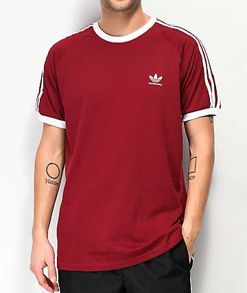 adidas Clima California 2.0 Burgundy T-Shirt