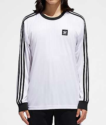adidas Club White & Black Long Sleeve Jersey