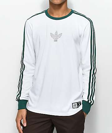 adidas Club White Long Sleeve T-Shirt