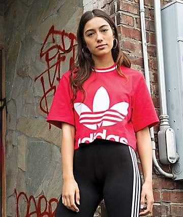 adidas Energy Pink Crop T-Shirt