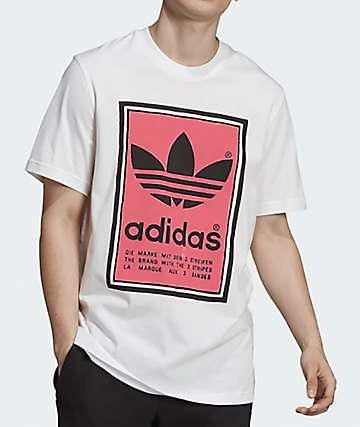 adidas Filled Label White T-Shirt