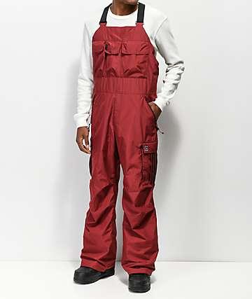 adidas Flanders Maroon 10K Snowboard Bib Pants