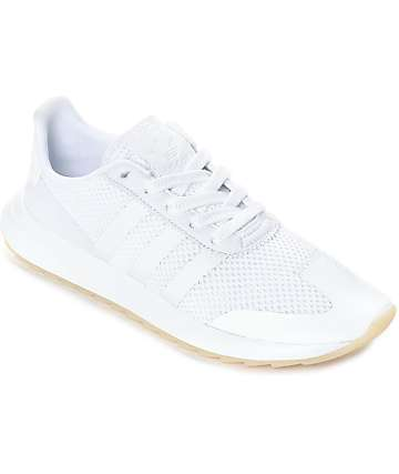 half off bf6e9 e8459 adidas Flashback All White Womens Shoes
