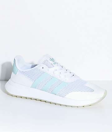 adidas Flashback White & Tactile Green Shoes