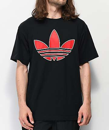 adidas Floating Trefoil Red & Black T-Shirt
