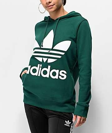 adidas Green Trefoil Hoodie