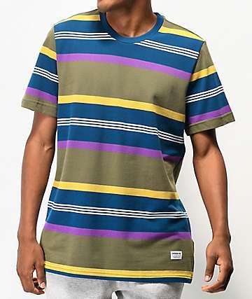 adidas Grover Multi-Striped Pique T-Shirt