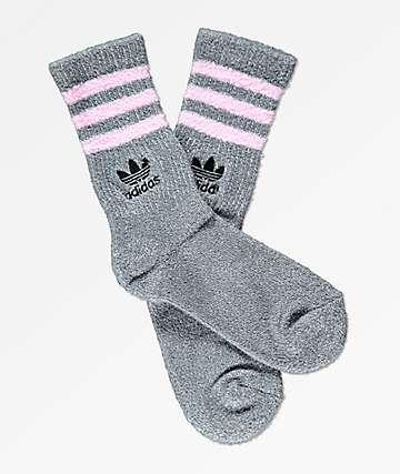 adidas House Grey & Pink Crew Socks