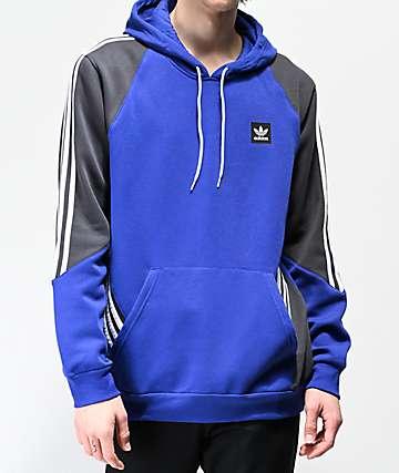 adidas Insley Blue & Grey Hoodie