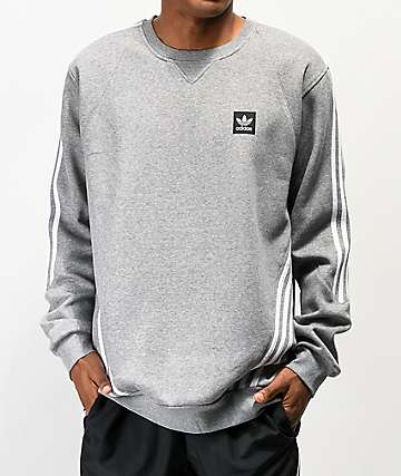 adidas Insley Grey Crew Neck Sweatshirt