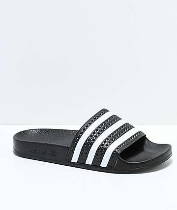 adidas Kids Adilette Black Slide Sandals