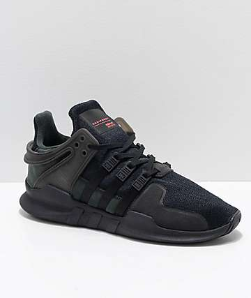 adidas Kids EQT Support ADV All Black Shoes