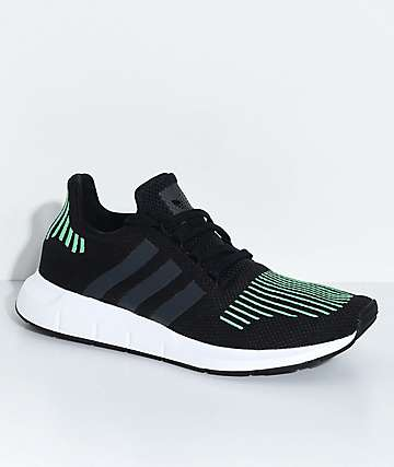 adidas Kids Swift Run Utility Black & White Shoes