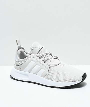 adidas Kids Xplorer Light Grey & White Shoes