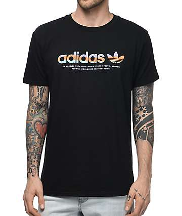 adidas Linear Black T-Shirt
