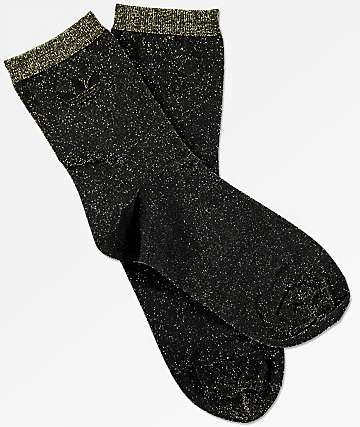 adidas Lurex Black & Gold Socks