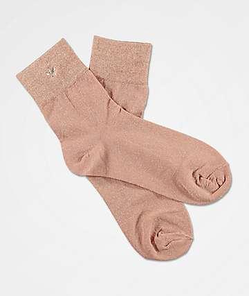 adidas Lurex Pearl Gold Ankle Socks