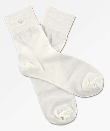 adidas Lurex White Ankle Socks