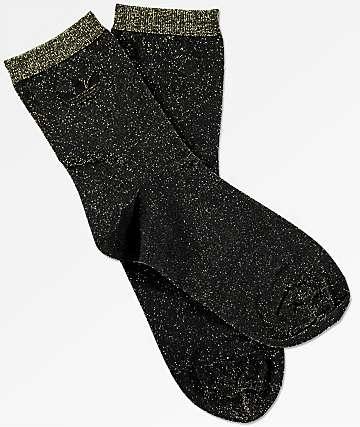 adidas Lurex calcetines en negro y color oro