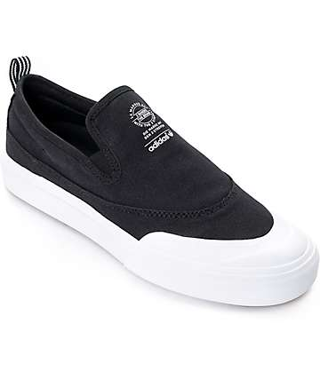 adidas Matchcourt Black & White Slip On Shoes