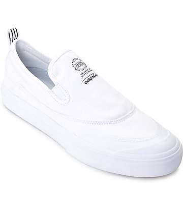 adidas Matchcourt White Slip On Shoes