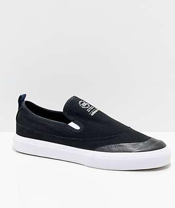 adidas Matchcourt zapatos Slip On en negro, blanco y azul