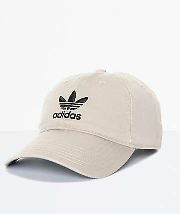 adidas Men's Trefoil Curved Bill Khaki Strapback Hat