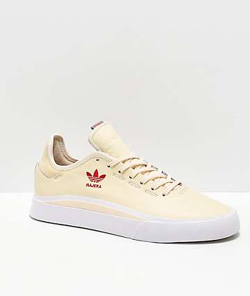 adidas Najera Sabalo Cream, White & Red Shoes