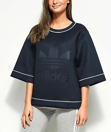 adidas Navy Oversized Top