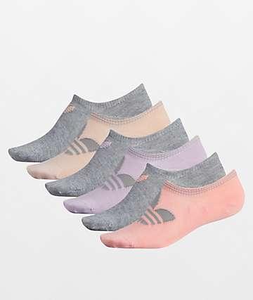 adidas OG Trefoil Lite 6 Pack No Show Socks