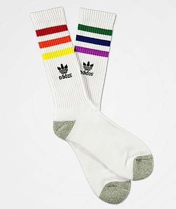 adidas Original Pride Roller White Crew Socks