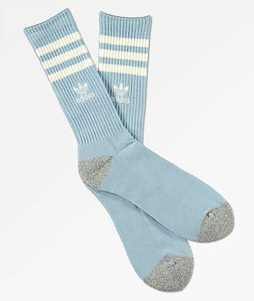 adidas Original Roller Sky Blue & White Crew Socks