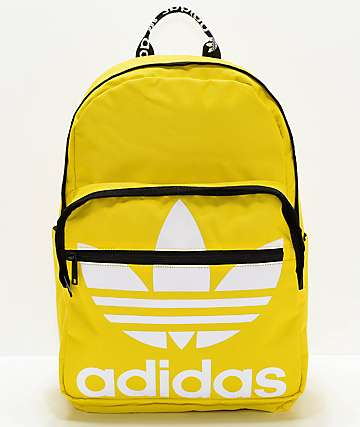 adidas Original Trefoil Pocket Yellow Backpack