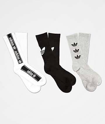 adidas Original Triple Brand 3 Pack Crew Socks
