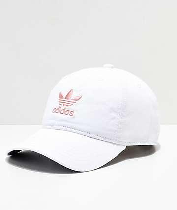 adidas Original gorra blanca y rosa para mujeres