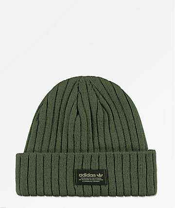 dd9a4436197e8 adidas Originals Base Green   Black Beanie