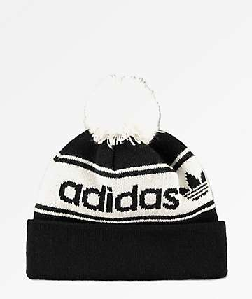 release date: 904a3 00754 ... inexpensive adidas originals black white pom beanie cbc9d 3186f