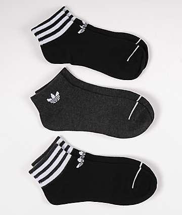 adidas Originals Black 3 Pack Ankle Socks