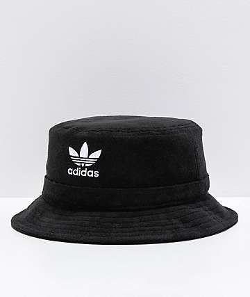 0f1183402a8 adidas Originals Black French Terry Bucket Hat