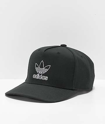 reputable site 16aed e2d8b adidas Originals Dart Pre-Curve Black Snapback Hat