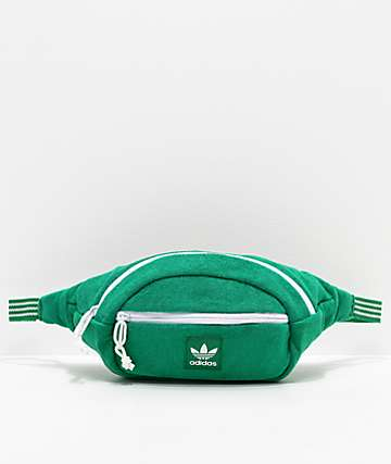 adidas Originals Green French Terry Fanny Pack